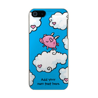 Flying Pig Dances on Clouds Customisable Incipio Feather® Shine iPhone 5 Case