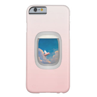flying pig through aeroplane window iPhone 6 case Barely There iPhone 6 Case