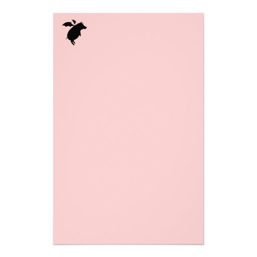 Flying piggy personalized stationery