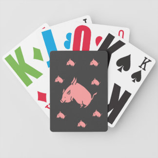 Flying pigs playing cards