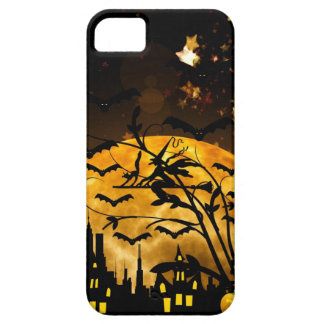 Flying Witch Harvest Moon Bats Halloween Gifts iPhone 5 Covers