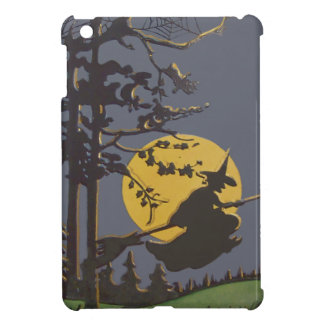 Flying Witch Silhouette Full Moon Spiderweb iPad Mini Case