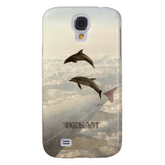 Flying with Dolphins Galaxy S4 Case