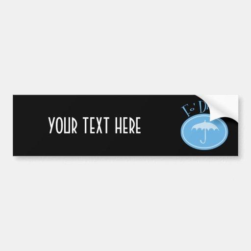 Fo' Drizzle Retro Umbrella - Blue Bumper Sticker