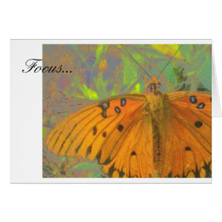 Focus Butterfly Card