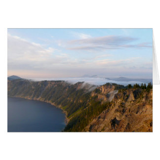 Fog at Crater Lake Greeting Card