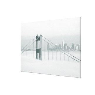 Fog rolls through the San Francisco bay 2 Canvas Print