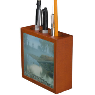 Foggy Bitterroot River Morning Design Desk Organiser