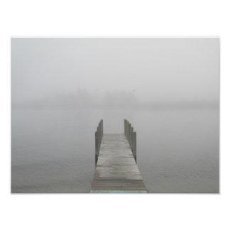 Foggy morning art photo