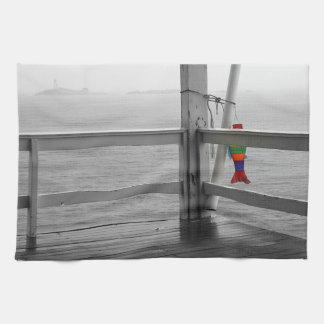 Foggy Oceanic View Tea Towel