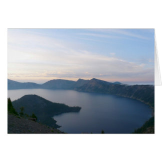 Foggy Sunrise at Crater Lake Card