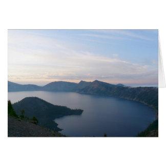 Foggy Sunrise at Crater Lake Greeting Card
