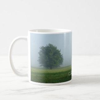 Foggy Trees in Cades Cove Basic White Mug