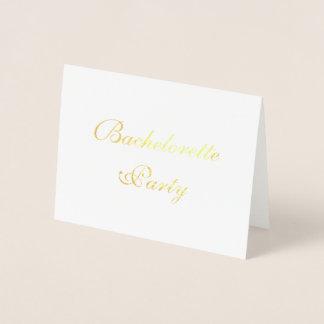 """Foil """"Bachelorette Party"""" Invitations"""