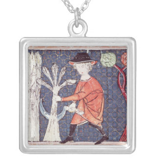 Fol.58v July: The Harvest Silver Plated Necklace