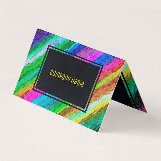 Folded Business Card Colourful digital art G478