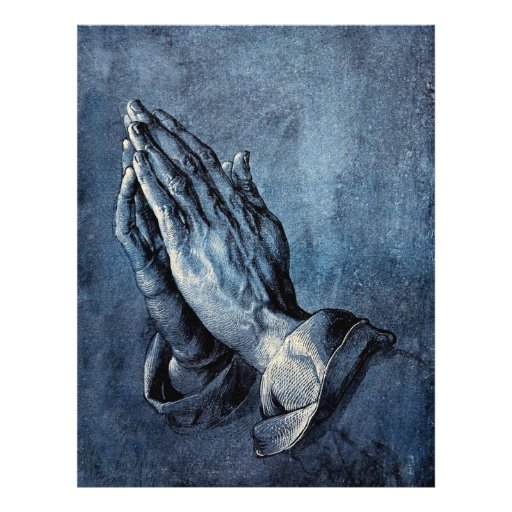 Folded Hands Prayer - Durer Flyer Design