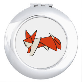 Folded Paper Fox Orgami Makeup Mirror