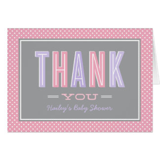 Folded Thank You Notes | Chic Type in Pink Purple