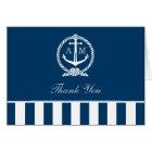 Folded Wedding Thank You Notes | Nautical Stripes