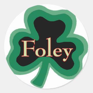 Foley Family Name Round Sticker