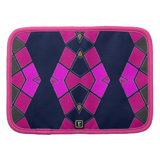 Folio Mini on Pattern of Pink, Navy Blue Organizer