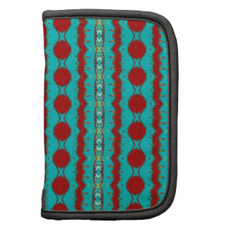 Folio Mini with Teal and Red Abstract Planner