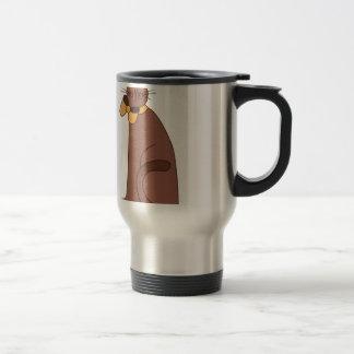 Folk Art Cat Stainless Steel Travel Mug