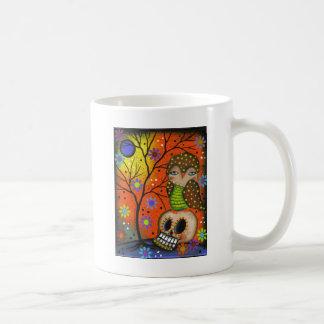 Folk Art Day Of The Dead By Lori Everett Coffee Mug