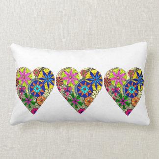Folk Style Floral Love Heart Cushion Pillows