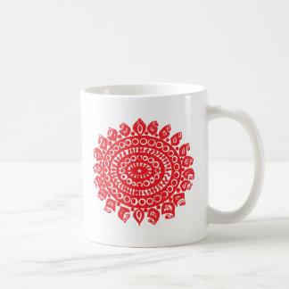 Folk Theme Basic White Mug