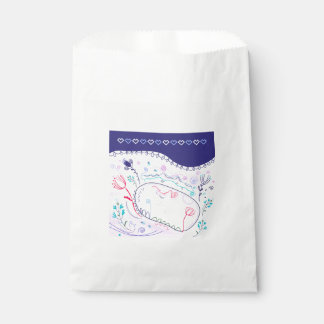 Folk wedding edition / blue, white favour bags