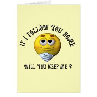Follow You Smiley Card