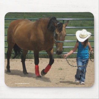 Follow Your Heart - Girl & Tennessee Walker Horse Mouse Pad