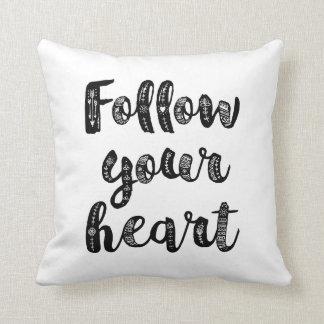 Follow Your Heart Throw Cushions
