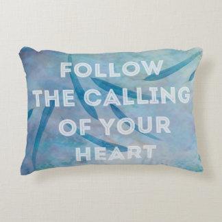 Follow Your Heart Throw Pillow Accent Cushion