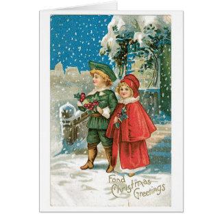 Fond Christmas Greetings Greeting Card