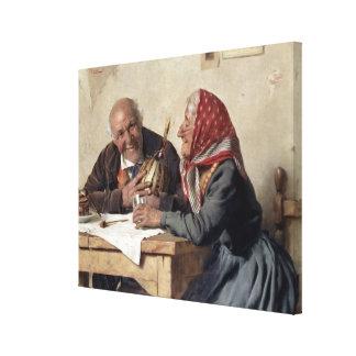 Fond Memories (oil on canvas) Canvas Print