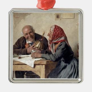 Fond Memories (oil on canvas) Christmas Ornament