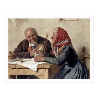 Fond Memories (oil on canvas) Postcard
