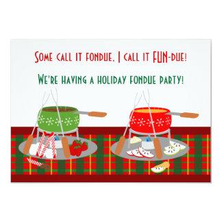 Fondue Pots Christmas Fondue Party Invitaitons Personalized Announcement