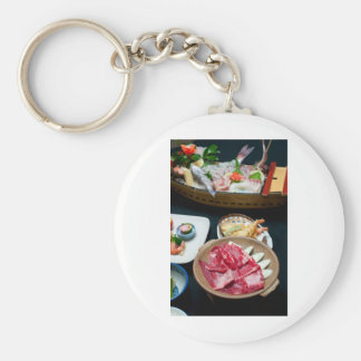 Food in Japan, Japanese Food Basic Round Button Key Ring