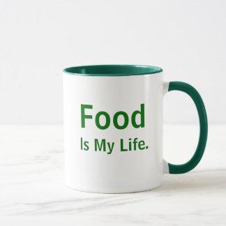 Food Is My Life Inspirational Chef Quote Slogan Mug