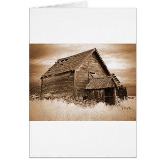 Food Storage Building ( Sepia ) Card