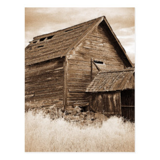 Food Storage Building ( Sepia ) Postcard