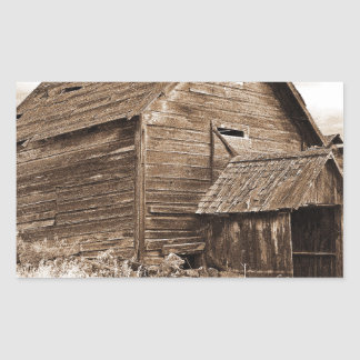 Food Storage Building ( Sepia ) Rectangular Sticker