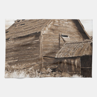 Food Storage Building ( Sepia ) Tea Towel