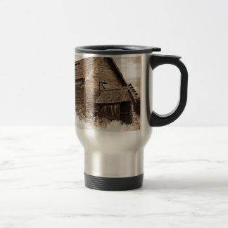 Food Storage Building ( Sepia ) Travel Mug