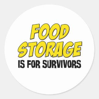 Food Storage is For Survivors Classic Round Sticker