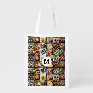 Foodie custom monogram reusable bag